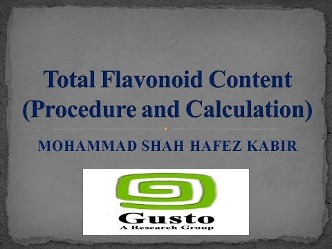 Total Flavonoid Content (Procedure and Calculation)