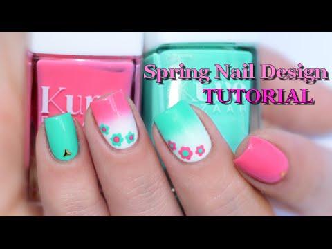 Nail Art Spring Nails Design Tutorial Easy Melyne Nailart