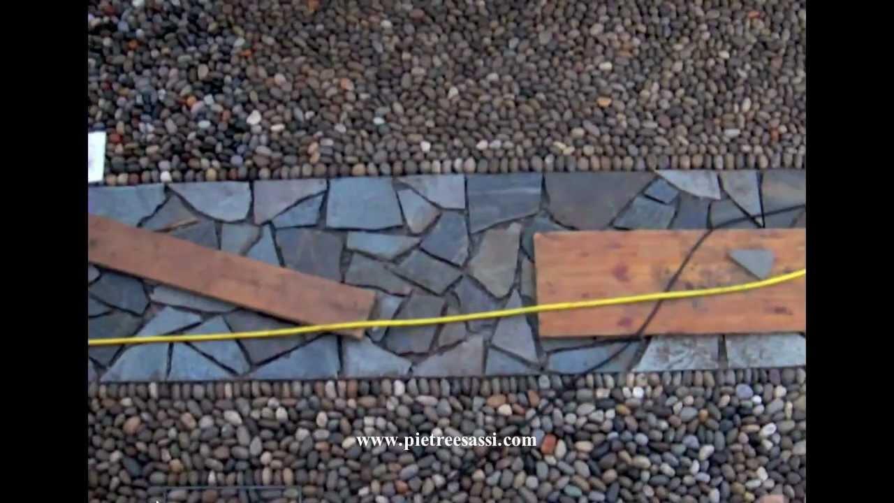 Pietre e Sassi pavimento esterno in ciottoli di fiume e