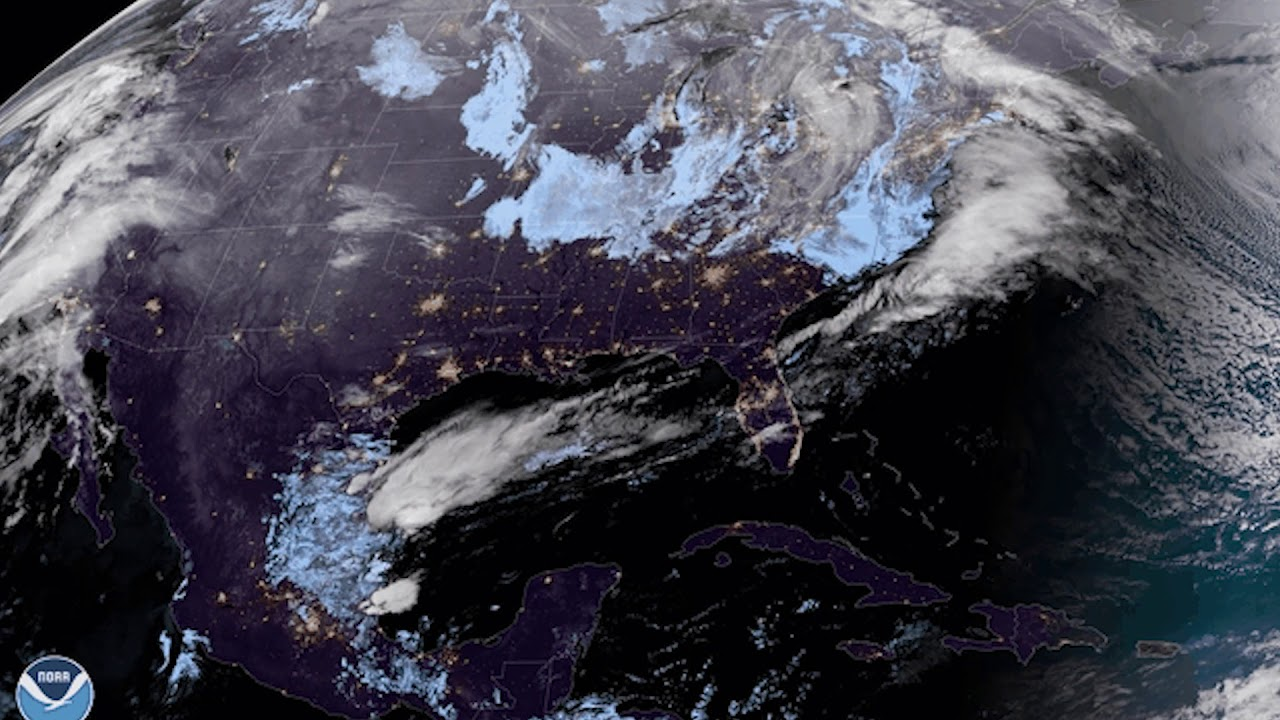 Nor'easter Seen From High Above - NOAA Satellite View