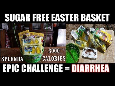 Sugar Free Diarrhea Easter Basket Challenge - WARNING TOILET SCENE (vs the world 46)