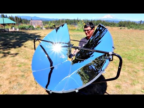 Cooking Food With Sunshine - Off-Grid Solar Cooker Oven