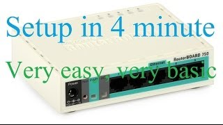 Gambar cover Mikrotik Router Board first time setup less than 5 minute , very easy, very basic