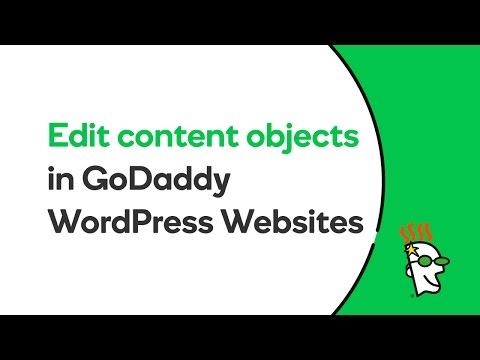 How To Edit Content On Your GoDaddy WordPress Website | GoDaddy Help