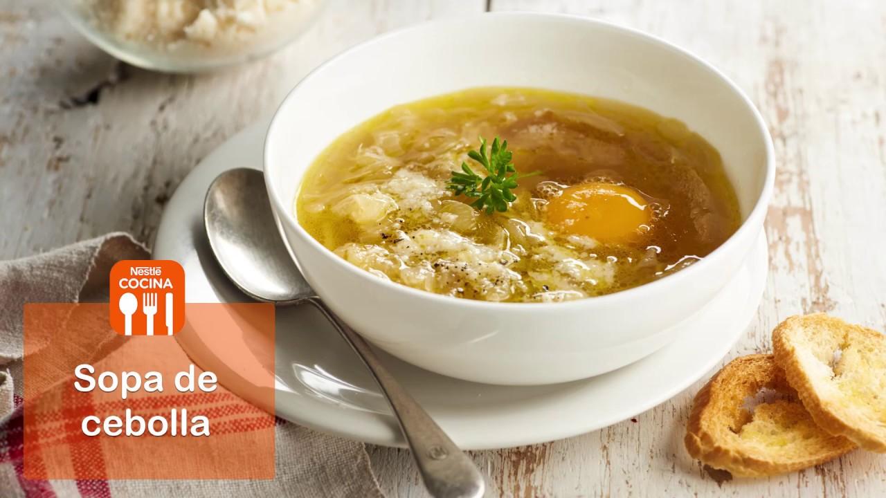 Sopa de cebolla recetas nestl cocina youtube for Youtube videos de cocina