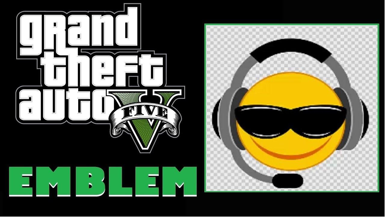 Grand Theft Auto 5 / GTA 5 / GTA V : Smiley Gamer Face ... Grand Theft Auto V Logo