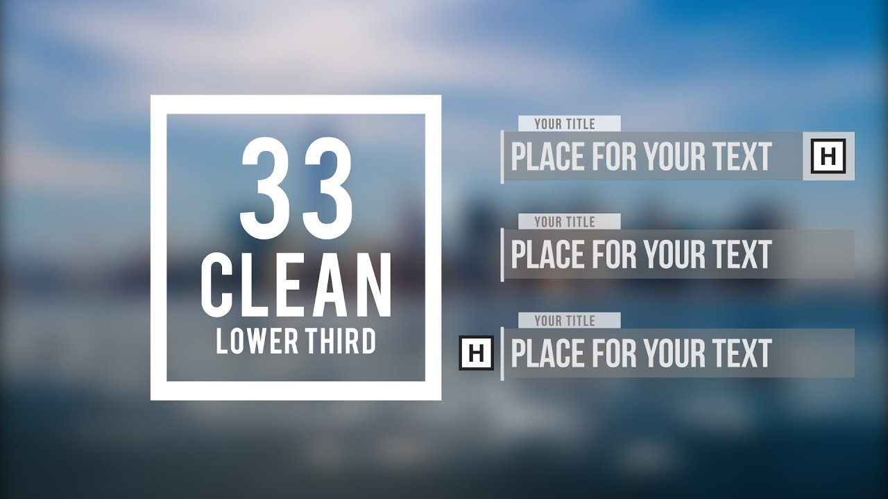 Adobe After Effects - 33 Clean Lower Third |FREE TEMPLATE| - YouTube