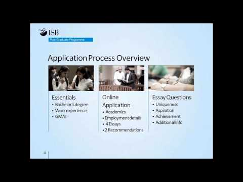 Webinar with ISB Admissions Part 1