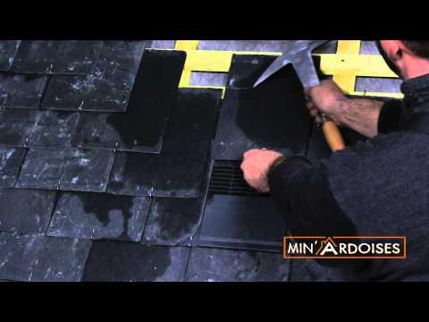 Tutoriel Couverture ardoise, étape 6: ventilation et faitiere