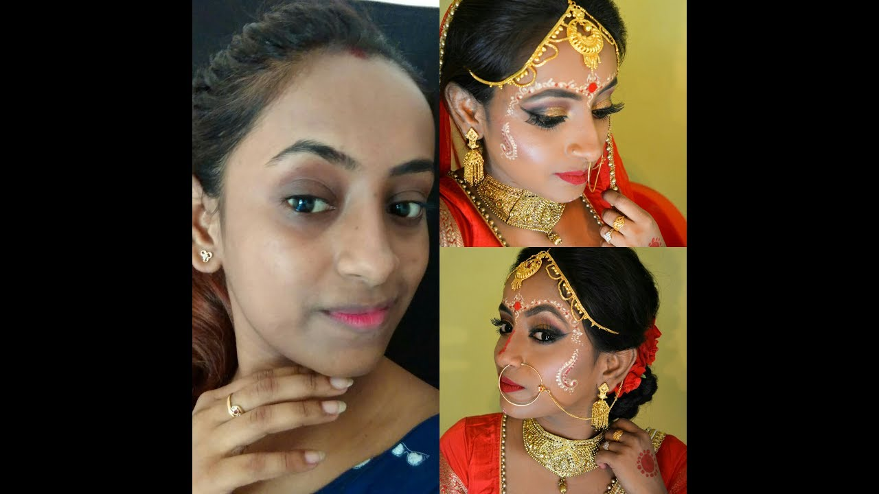 Traditional Bengali Bridal Hd Makeup Tutorial My Wedding Makeup
