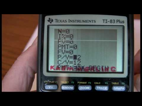 TI-83 and TI-84 5-Key Time Value of Money Part One
