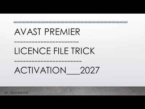 Activating avast internet security with a license file | official.