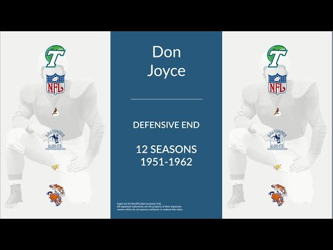 Don Joyce: Football Defensive End and Defensive Tackle