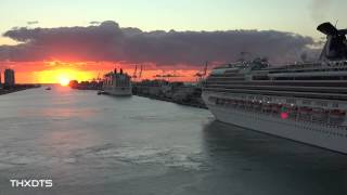 Carnival Splendor return to the Port of Miami. 12/14/14 Ultra HD 4K