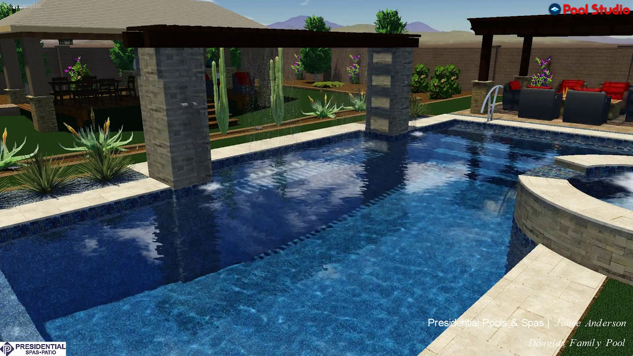 Douglas Backyard Design Concept By Jamie Anderson At Presidential Pools And  Spas