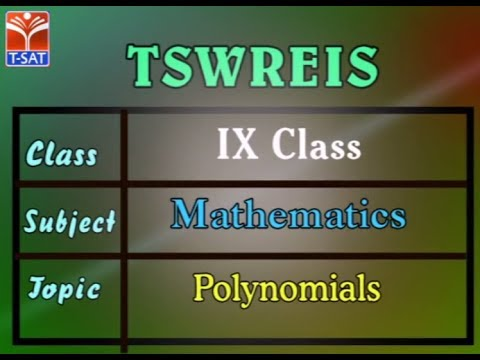 TSWREIS ||  Mathematics - Polynomials  || Live Session With P Suresh Kumar