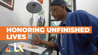 Brooklyn Artist Adrian Brandon is Honoring Stolen Black Lives With Unfinished Portraits | NBCLX
