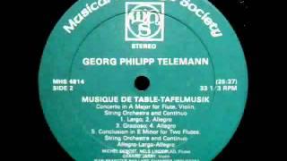 Telemann JF Paillard 1980 Tafelmusik Concerto in A Major