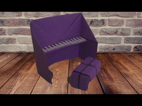 ORİGAMİ PİANO YAPIMI. (making origami piona)