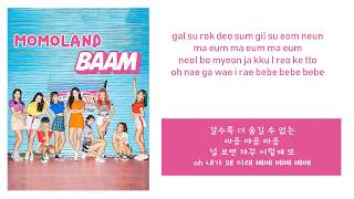 MOMOLAND (모모랜드) - BAAM(배앰) (Instrumental official + Lyrics)