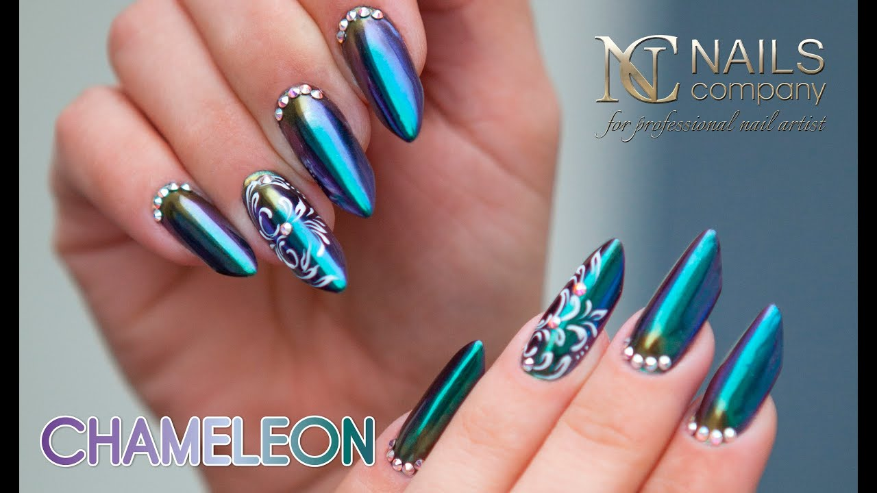 Chameleon Effect Powder Nails Step By Step Youtube