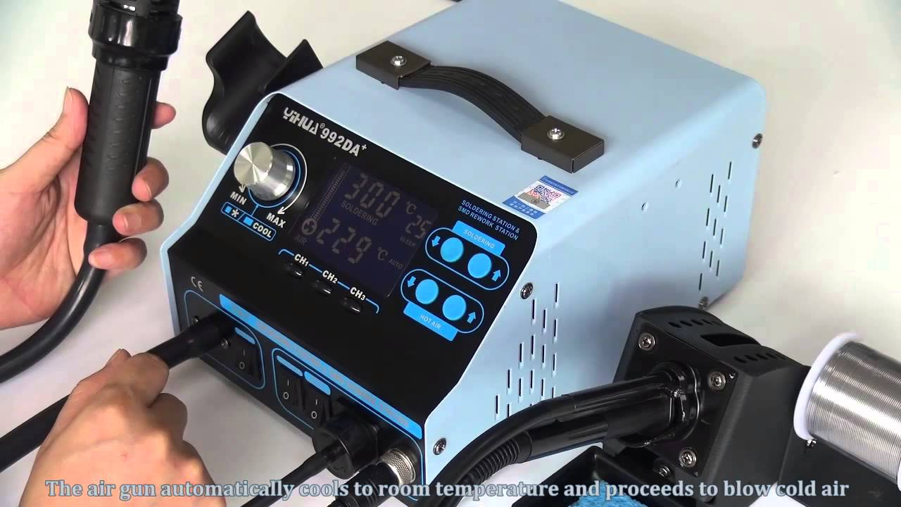 <b>YIHUA</b> YH-<b>992DA+</b> 4 IN 1 HOT AIR REWORK SOLDERING IRON ...