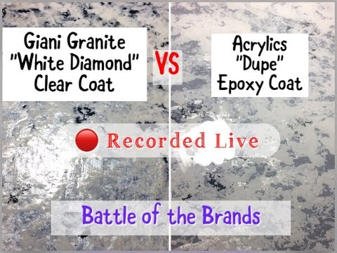 Giani Granite White Diamond Kit VS Acrylics and Epoxy | DIY Tutorial | Faux Granite | Faux Wood