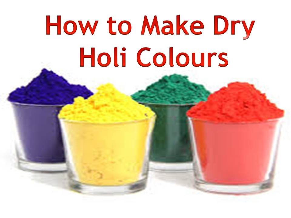 How to make powder / dry holi colours - YouTube