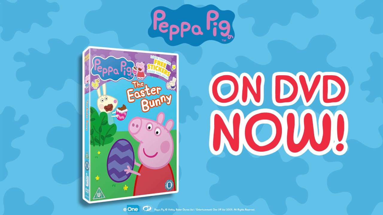 Peppa Pig Easter Bunny Dvd Available Now Egg Hunt Youtube