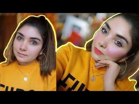Pakistani Brand : My Everyday Glowy/Dewy Makeup Using All My Favourite Makeup || Nishoo Khan