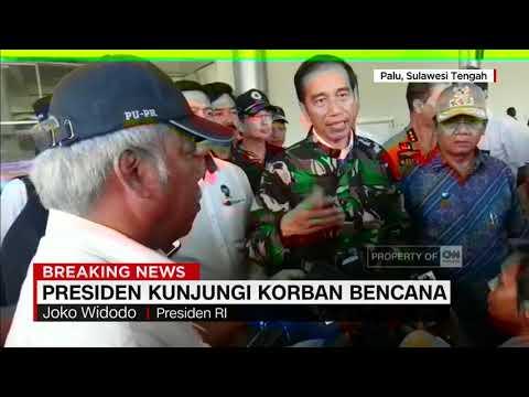 Presiden Jokowi Kunjungi Korban Bencana