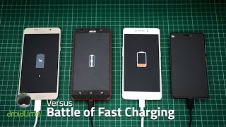 Note5 vs R7s vs ZenFone 2 vs Mi 4c - Battle of Fast Charging