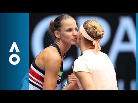 Lucie Safarova v Karolina Pliskova match highlights (3R)   Australian Open 2018