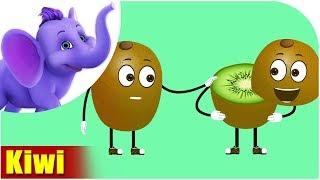 Kiwi Fruit Rhyme f๐r Children, Kiwi Cartoon Fruits Song for Kids