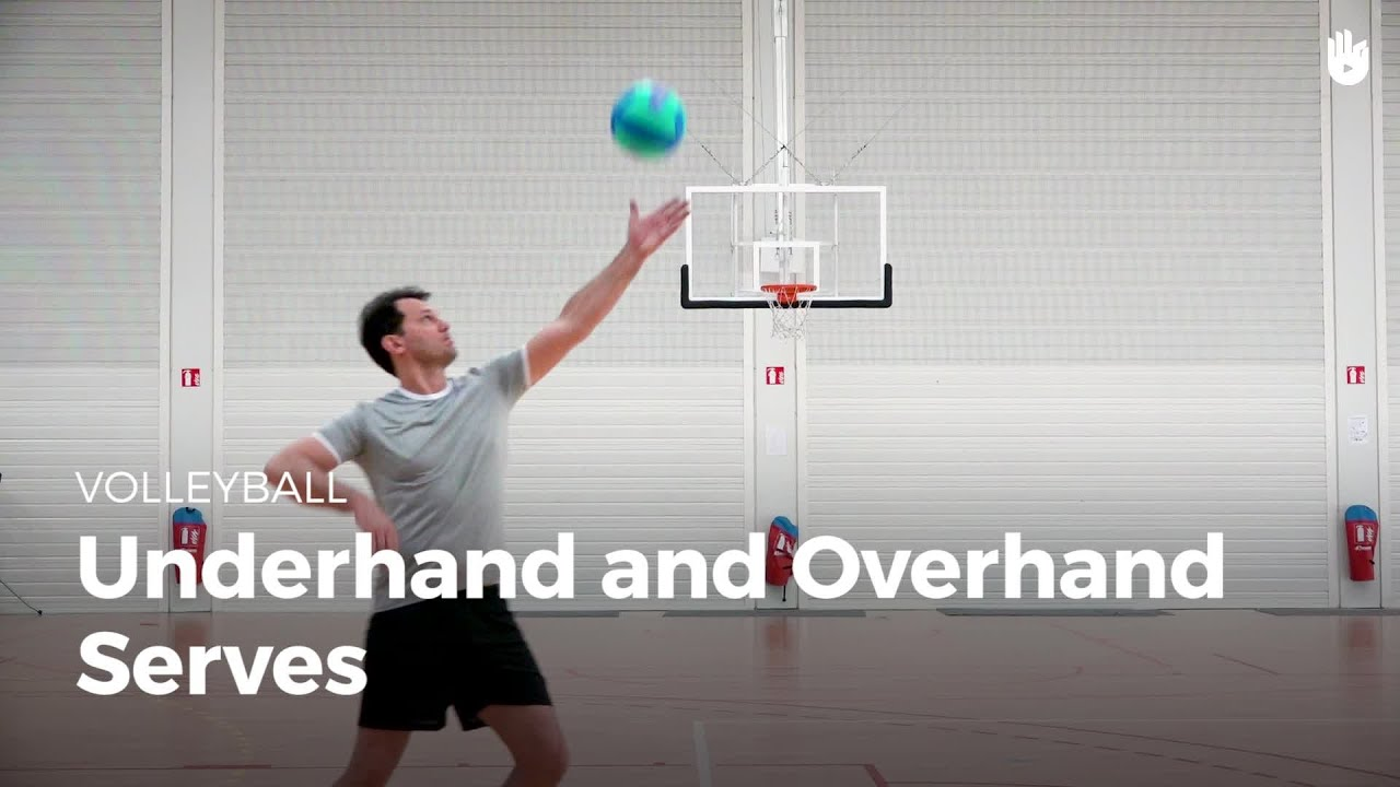 Underhand And Overhand Serves Volleyball Youtube
