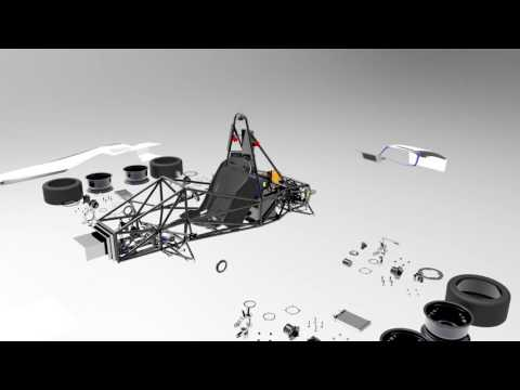 Presenting the design of Orca   5th Electric Racecar by IIT Bombay Racing