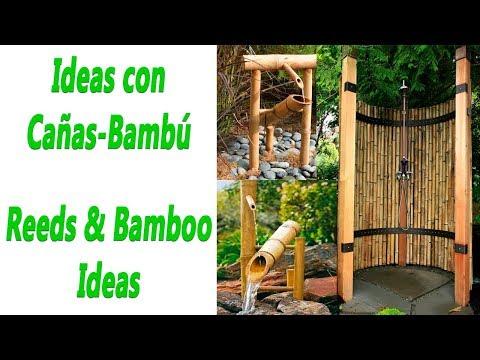 Ideas con cañas-bambú para decorar.