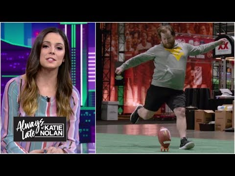Fans who sent mean tweets about kickers try to make real field goals | Always Late with Katie Nolan