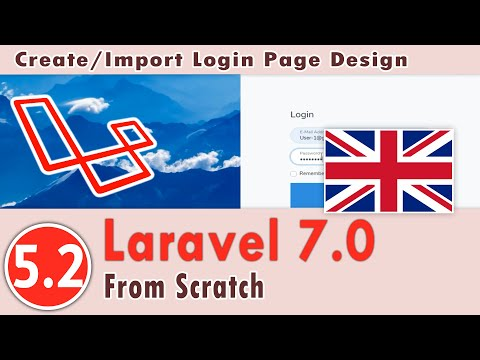 5.02 - Laravel 7.0 Course - Create The Authentication System - Create/Import Login Page Design