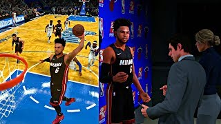 NBA 2K18 MyCAREER - CAM 1ST NBA GAME! SHOWING CRAZY HOPS AND ANKLE BREAKER MOVES! FUNNY INTERVIEW