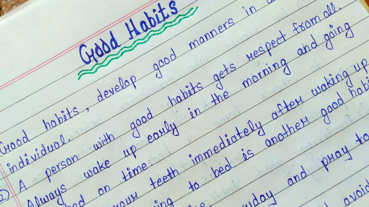 essay writing on healthy habits