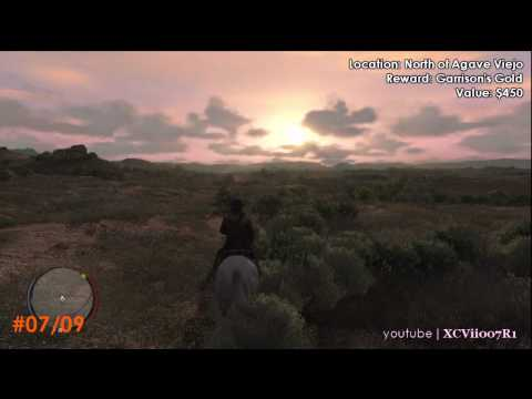 Red Dead Redemption - Treasure Hunter Challenge: Treasure Locations