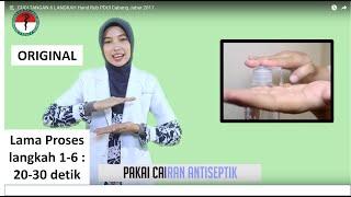 CUCI TANGAN 6 LANGKAH Hand Rub PDUI Cabang Jabar 2017