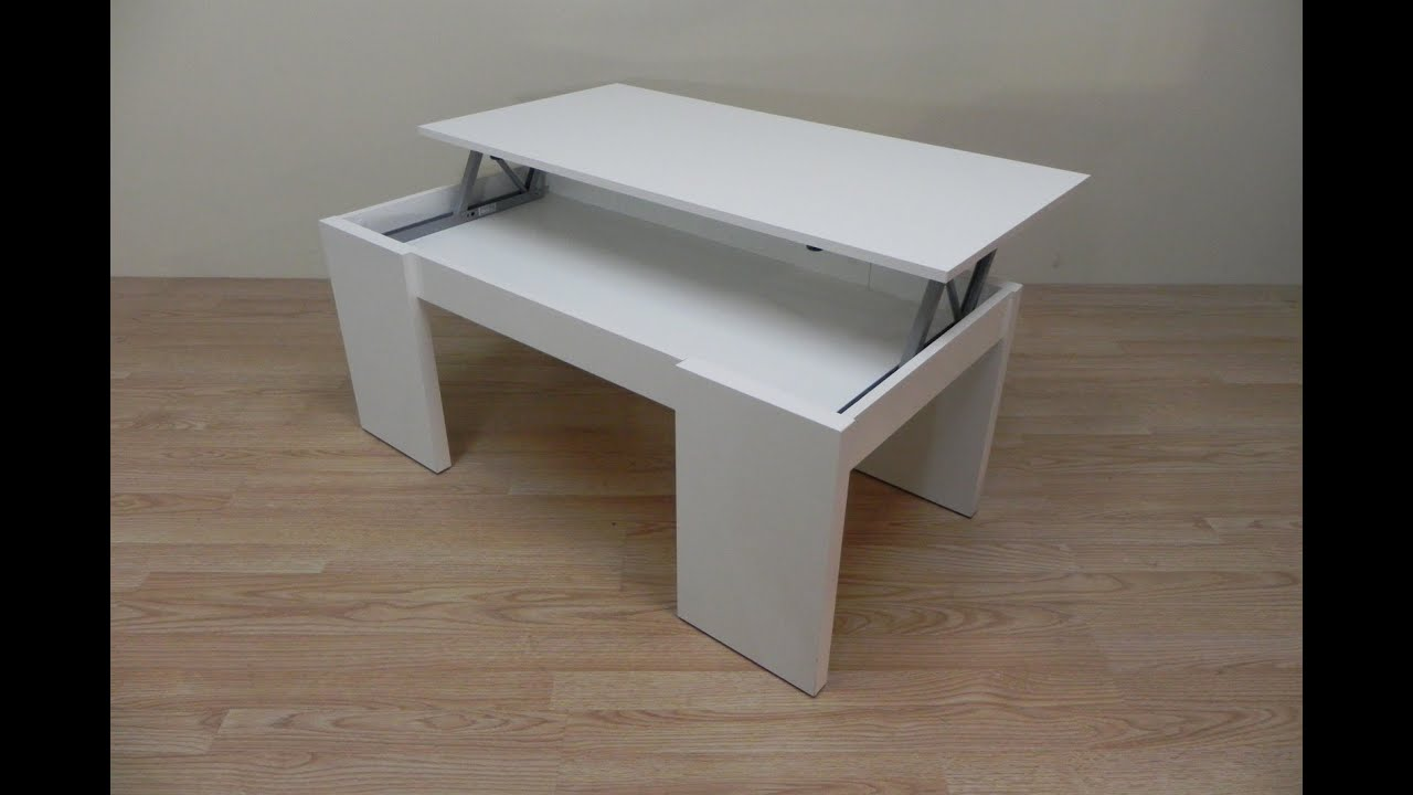 Mesa de centro elevable economica para comedores color - Mesa abatible de pared carrefour ...