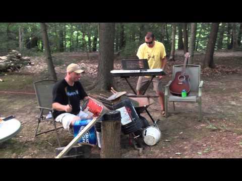 Ed O'Grady and Chris O'Grady Livin' La Vida Loca bucket drums and casio key board