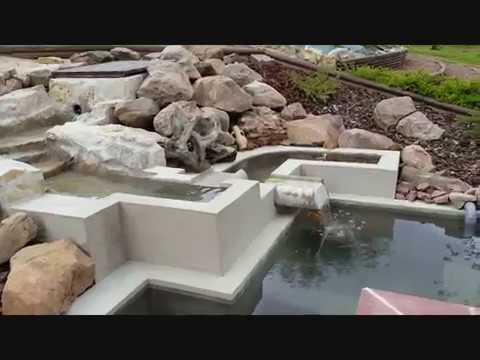 Mon bassin en bton  YouTube