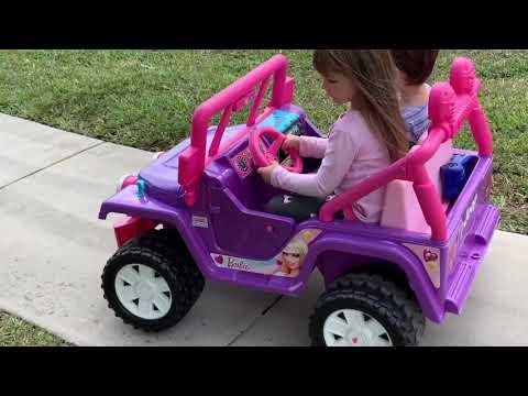 Fisher Price Power Wheels Purple Barbie Jeep