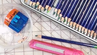 how to sharpen watercolor pencils