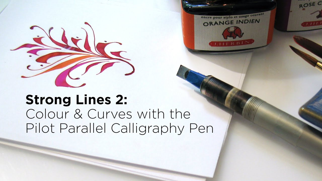 Colour curves with the pilot parallel calligraphy pen Pilot parallel calligraphy pen
