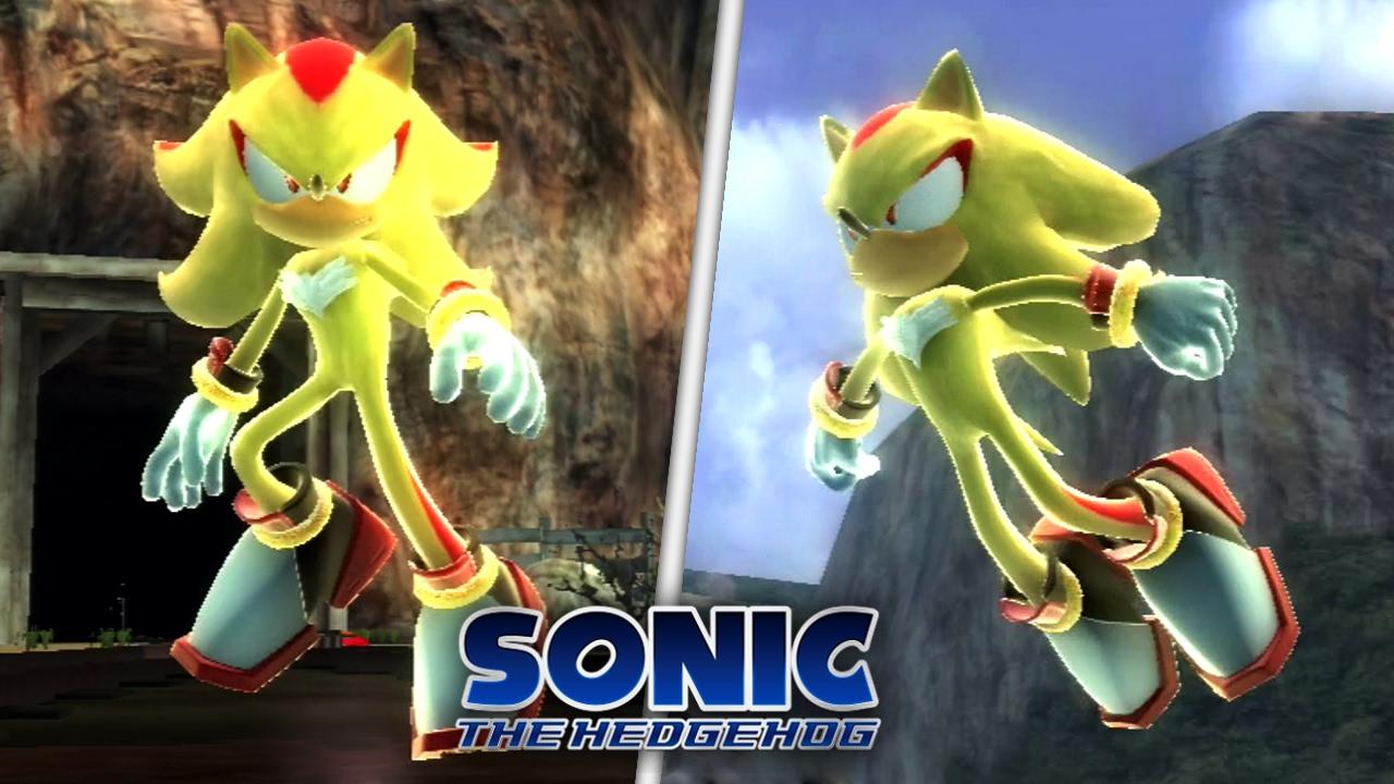 Sonic The Hedgehog (2006) Super Shadow In Radical Train